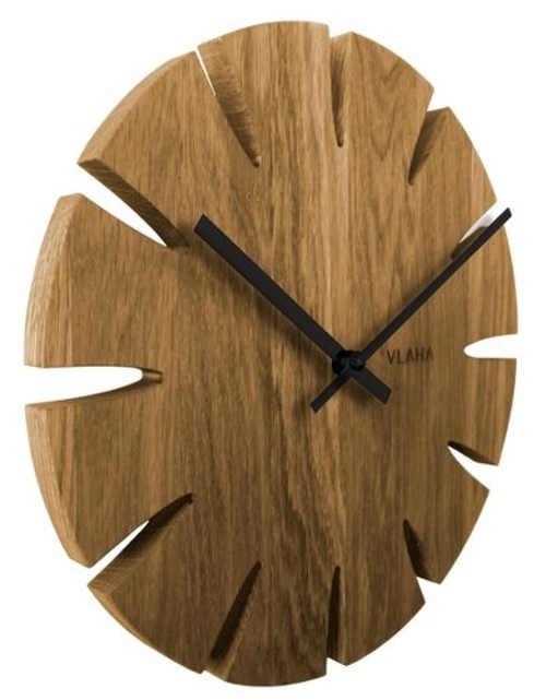 Nástěnné hodiny z masivního dubového dřeva