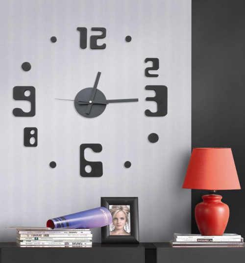Nástěnné nalepovací hodiny G21 Eccentric Style