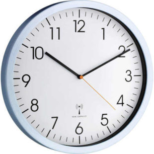 Stříbrné hliníkové nástěnné hodiny
