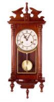 Velké dřevěné ozdobné kyvadlové hodiny ORPHEUS