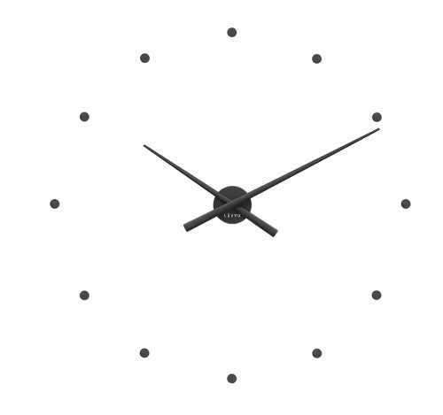 Velké nalepovací 3D hodiny na zeď
