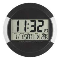Digitální nástěnné hodiny včetně teploměru, kalendáře a fáze měsíce