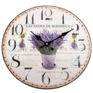 Dřevěné nástěnné hodiny v romantickém Provence provedení