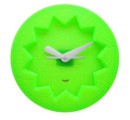 Fosforově zelené nástěnné hodiny