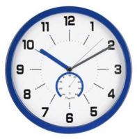 Analogové nástěnné hodiny s teploměrem