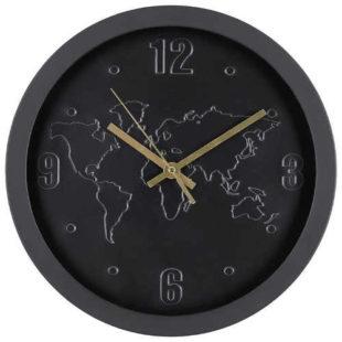 Černé nástěnné hodiny v působivém designu