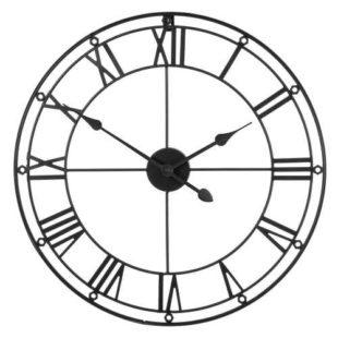 Interesantní nástěnné hodiny s římskými číslicemi