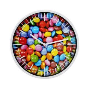 Moderní nástěnné hodiny s motivem lentilek či kávy