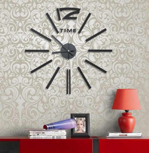 Nalepovací hodiny na stěnu v elegantním designu