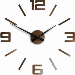 Nalepovací hodiny v měděném provedení