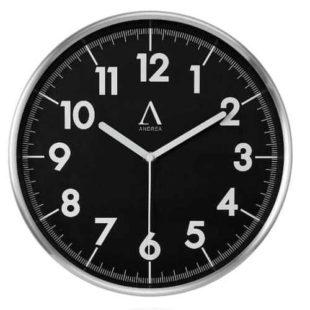 Stylové hodiny na zeď v černo-stříbrném provedení