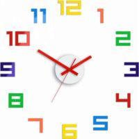 Barevné 3D nalepovací hodiny ideální do dětského pokoje