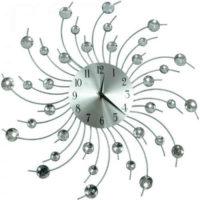 Elegantní umělecké nástěnné hodiny s krystaly