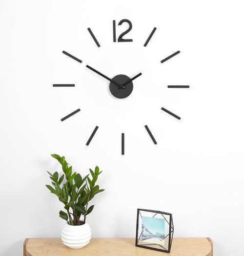 nalepovací hodiny černé moderní