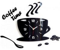 Nástěnné hodiny do kuchyně nebo jídelny Šálek kávy