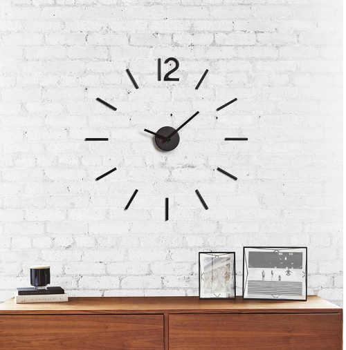 stylové hodiny nalepovací na zeď