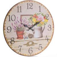 Venkovské nástěnné hodiny flower mix 34cm
