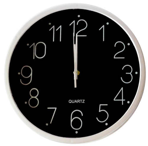 Levné černé kulaté nástěnné hodiny