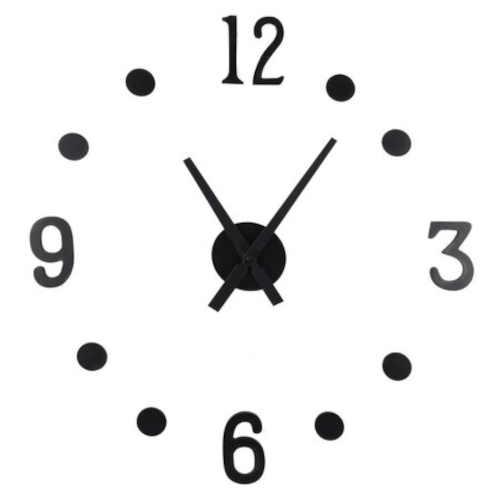 Černé velké nalepovací hodiny