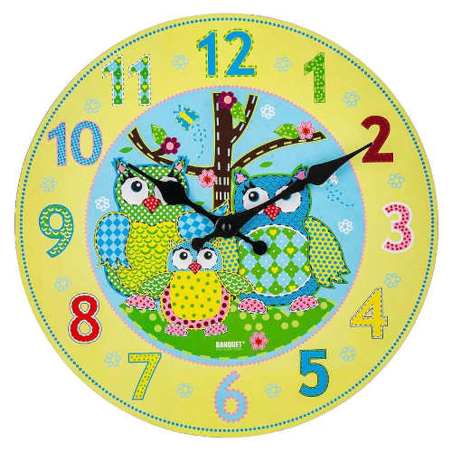 Kulaté nástěnné hodiny do dětského pokoje