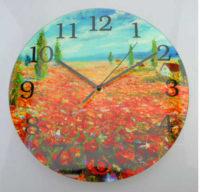Kulaté skleněné nástěnné hodiny Renoir