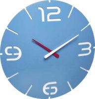 Nástěnné moderní hodiny v blankytně modré barvě