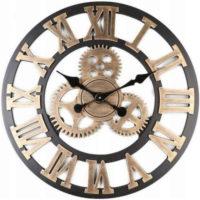 Velké 3D dřevěné nástěnné hodiny