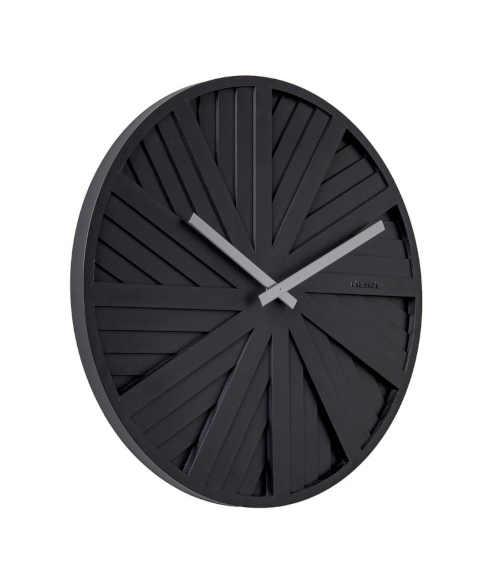 černé nástěnné originální hodiny