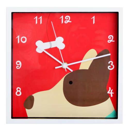 Dětské závěsné hodiny s obrázkem psa