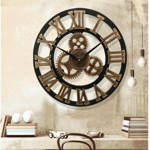 dřevěné nástěnné 3D hodiny