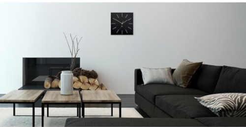 elegantní hodiny velké na zeď