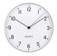 Kulaté stříbrné nástěnné hodiny TORO 25cm