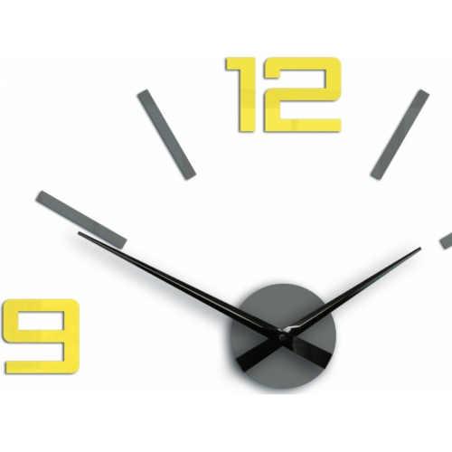 velké 3D šedo-žluté hodiny