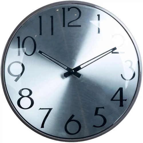 Kulaté nástěnné hodiny s velkými číslicemi