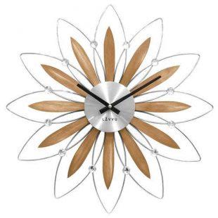 Nástěnné hodiny ve tvaru květiny