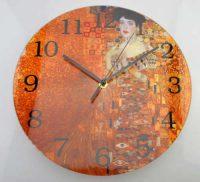 Skleněné hodiny s reprodukcí Gustava Klimta