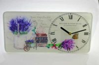 Skleněné hodiny ve stylu Provence