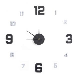 Stylové velké samolepící nástěnné hodiny