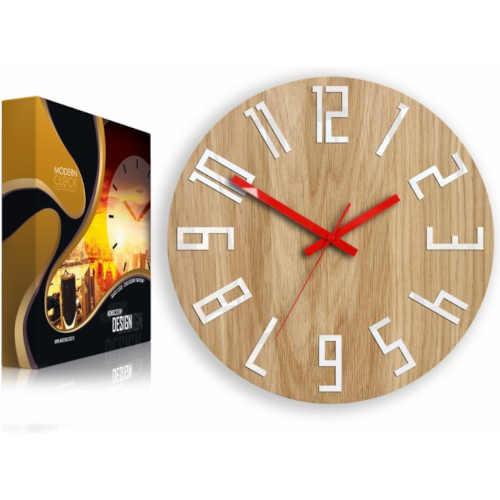 kulaté interiérové dřevěné hodiny
