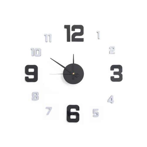 samolepící hodiny na zeď
